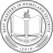 Intelligent badge recognizing the 2019 Masters in Homeland Security program of Tulane School of Professional Advancement in New Orleans, LA