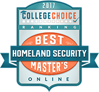 College Choice icon recognizing Tulane School of Professional Advancement's Online Masters in Homeland Security program in New Orleans, LA