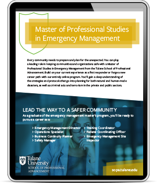 Emergency Management iPad Graphic