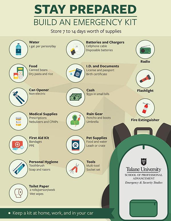 Emergency kit infographic