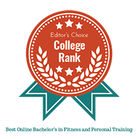 College Rank badge for the Tulane School of Professional Advancement's Online Bachelor's in Fitness and Personal Training in New Orleans, LA