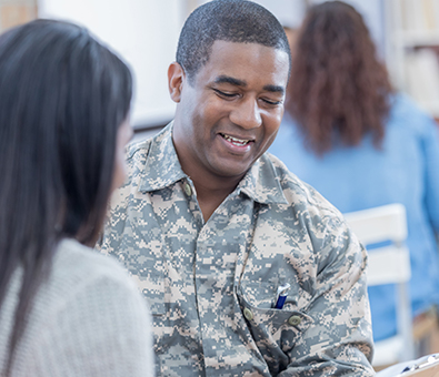 Military Member attending class