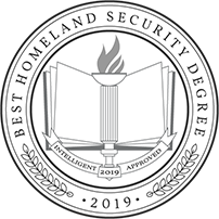 Intelligent badge recognizing the 2019 Homeland Security degree of Tulane School of Professional Advancement in New Orleans, LA