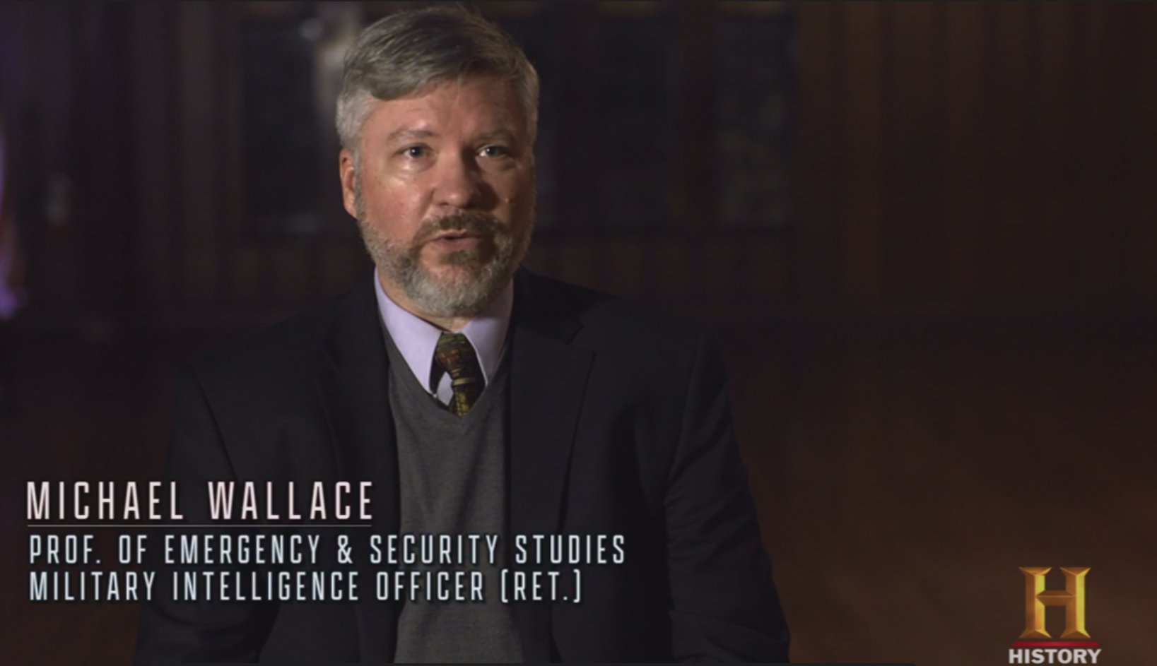 Still of Michael Wallace, director of Tulane School of Professional Advancement's Emergency and Security Studies program on The History Channel