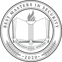 Intelligent Badge recognizing Tulane School of Professional Advancement's 2020 Masters in Security program in New Orleans, LA