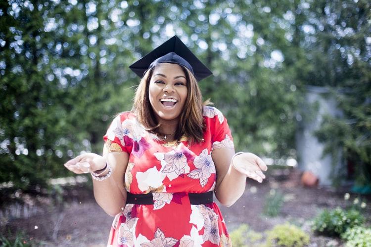 A person in a graduation cap