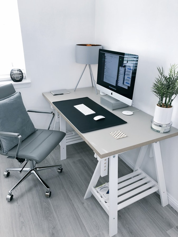 A home office workspace