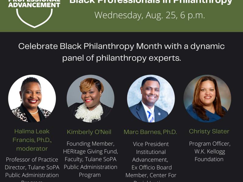 SoPA Black Philanthropy Panel