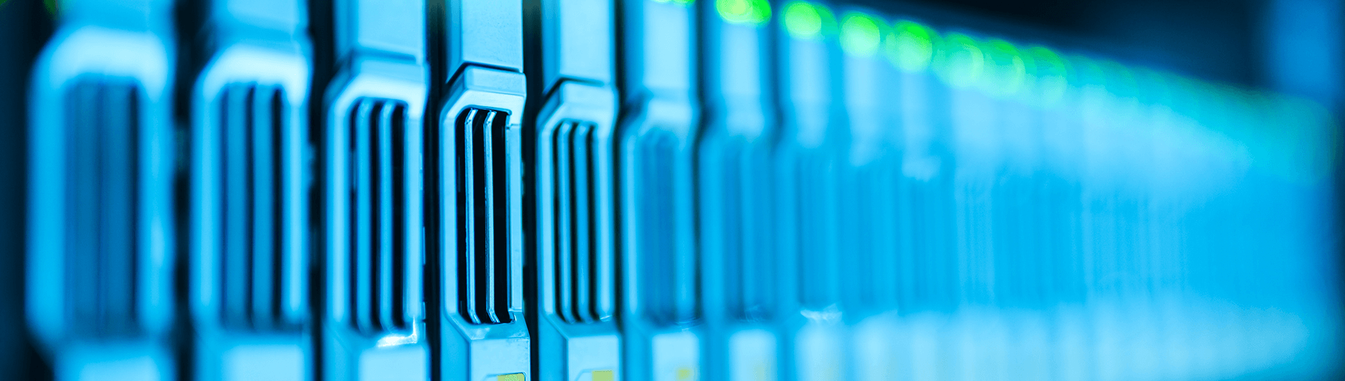 A close up of servers