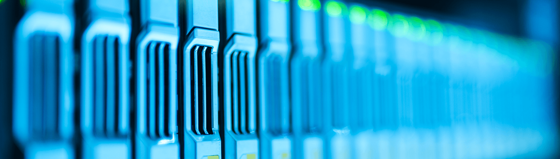 A close up of computer servers
