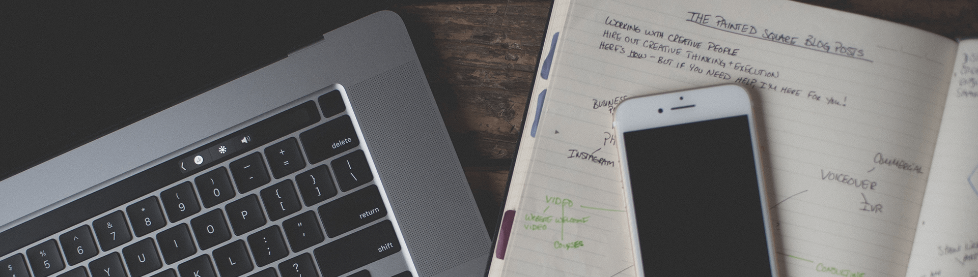 Laptop, phone and day planner - Tulane School of Professional Advancement