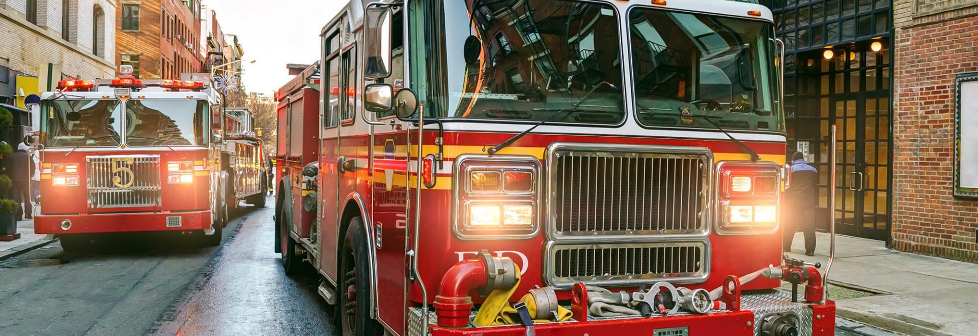 Fire trucks on a city street - Tulane School of Professional Advancement