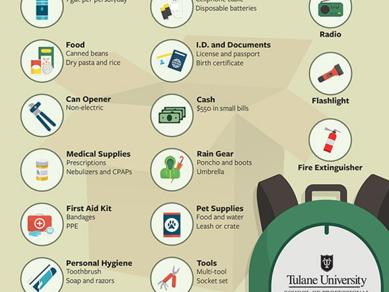 Emergency kit infographic