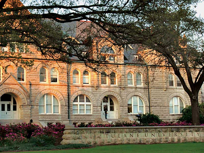 Uptown campus of professional advancement program provider Tulane School of Professional Advancement in New Orleans, LA