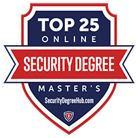 Top 25 Online badge recognizing the 2019 Online Security Degree program of Tulane School of Professional Advancement in New Orleans, LA